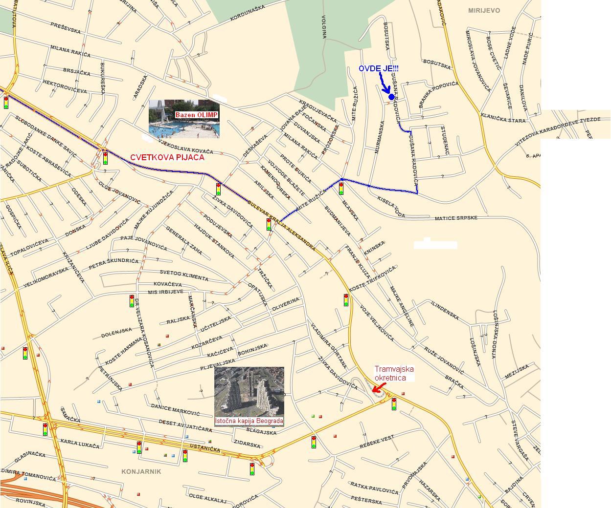 Mapa Mirijeva Beograd Superjoden